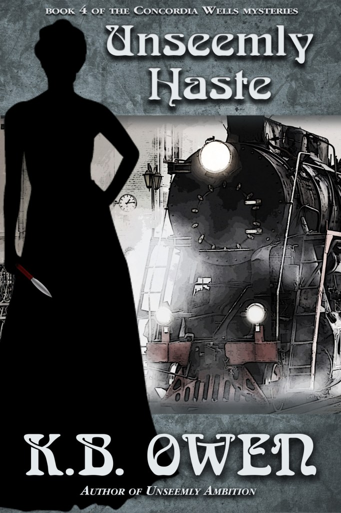 Unseemly Haste by K.B. Owen, cover by Book Cover Corner