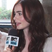 Lily Collins Dishes to MTV About City of Bones