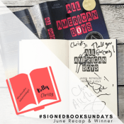 Feature: Instagram Photo Challenge #SignedBookSundays – July Themes & June Wrap-up