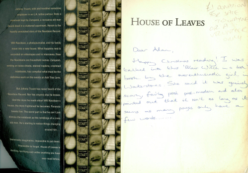 The House of Leaves by Mark Z Danielewski