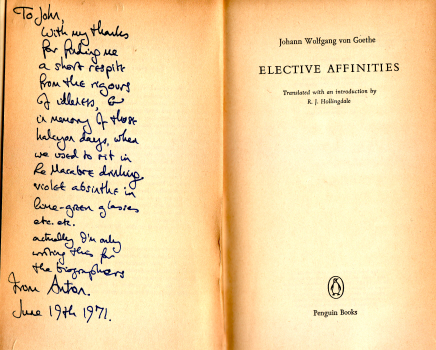Elective Affinities by Goethe