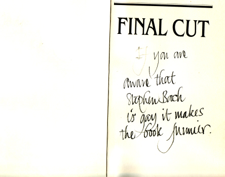 Final Cut - Dreams and Disaster in the Making of Heaven's Gate by Steven Bach