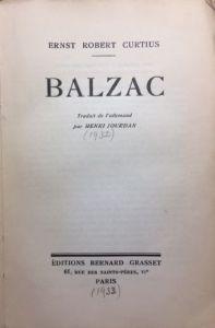 Balzac by Ernst Robert Curtis 1