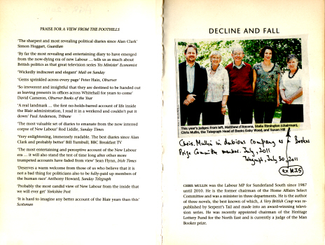 Decline & Fall - Diaries 2005 - 2010 by Chris Mullin 1