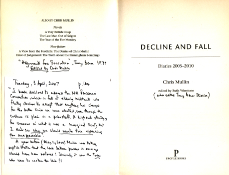 Decline & Fall - Diaries 2005 - 2010 by Chris Mullin 4