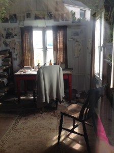 The writing shed at Laugharne, where Under Milk Wood was created