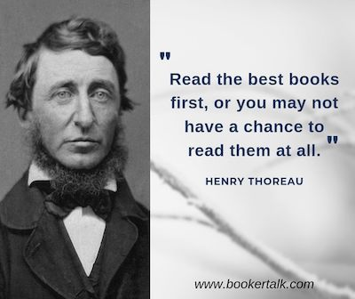 Henry Thoreau on Rainy Day Books