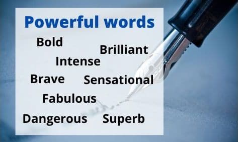 Examples of words adding power and effectiveness to blog headlines