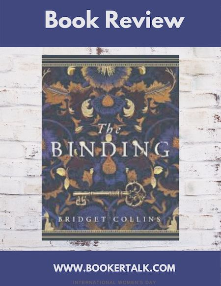 Words Book Review with image of front cover of The Binding by Bridget Collins