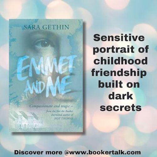 Cover of Emmet and Me by Sara Gethin, a sensitive portrait of a childhood tainted by abuse and neglect