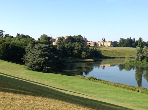 Rear view of Blenheim Palace. So kind of Winston Churchill to let me use his lawn for some holiday reading