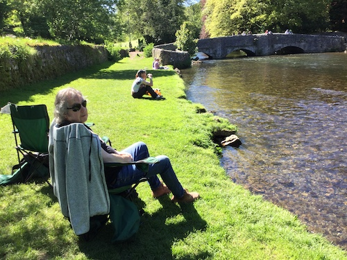 A quiet afternoon by the river in Derbyshire: A favourite holiday reading spot:
