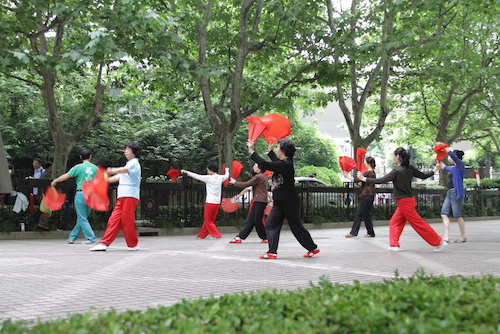 Tai Chi in a park in Shanghai