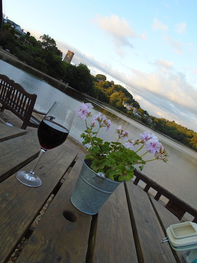 View of a creek of the River Dart, Devon: A favourite holiday reading spot