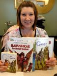 Author Patricia Polacco donated books to Union City Medical Center for their children's waiting room and was great at helping spread the word about International Book Giving Day! Thanks, Patricia!