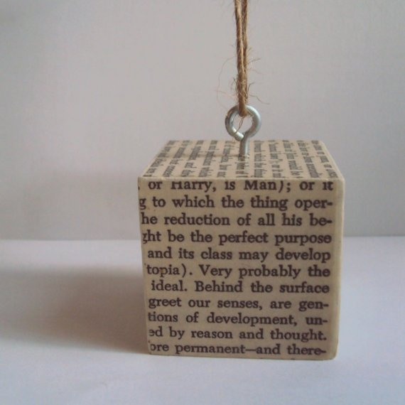 15 Festive Book-Themed Christmas Tree Ornaments