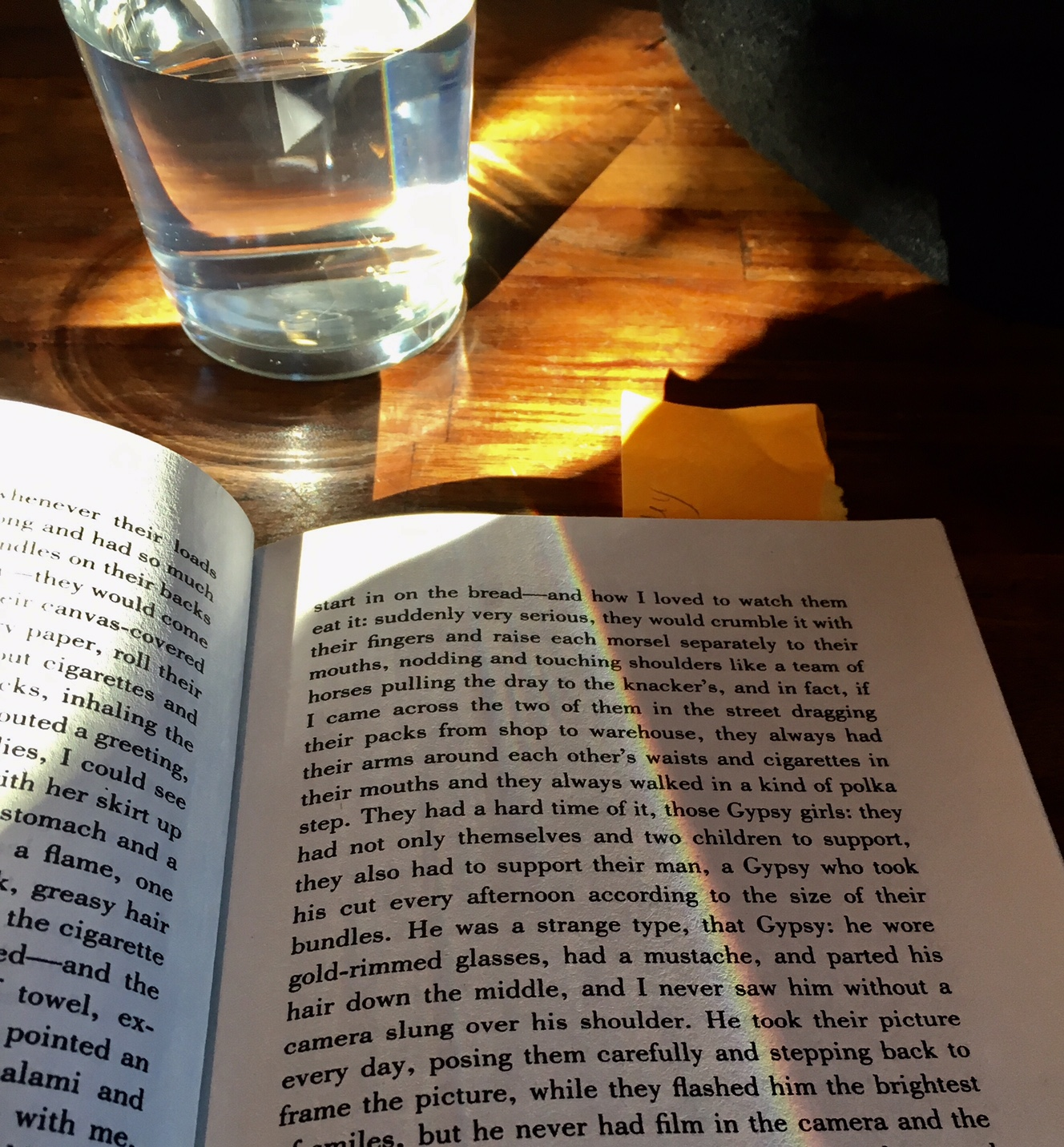 Image result for a glass water and a book