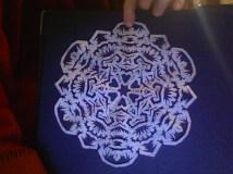 HS Snowflake notepage
