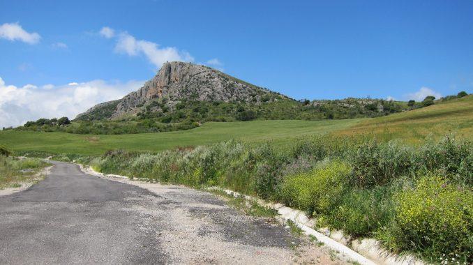 Road on the way to Rhonda Spain