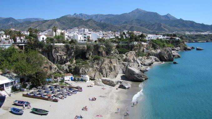 Beach east of Malaga Spain