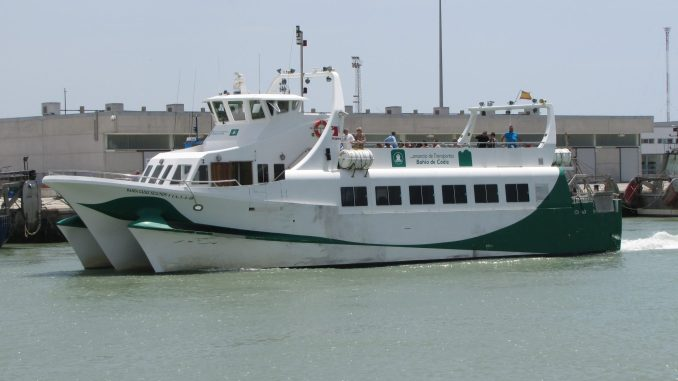 Ferry boat near Cadiz Spain