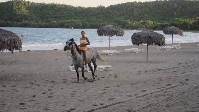 The riding horse lady at Maria del Portillo
