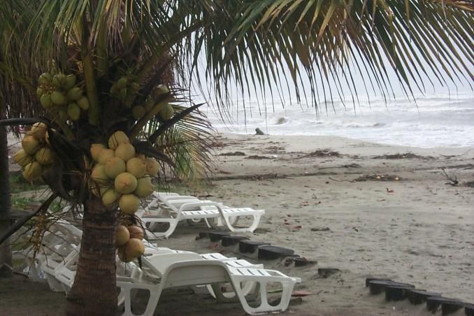 Beach at La Ceiba Honduras