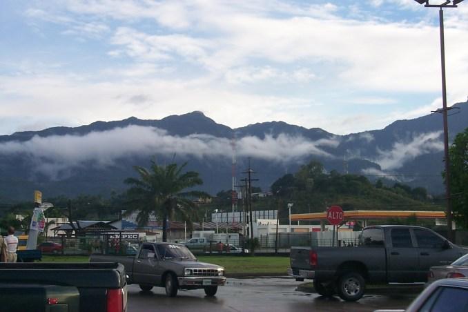 Mountain view in La Ceiba Honduras