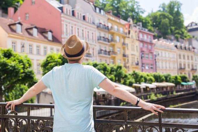 Tourist in Prague photo