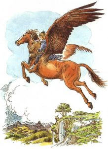 6-27 'Fledge, Polly and Digory', Pauline Baynes for The Magician's Nephew, CS Lewis