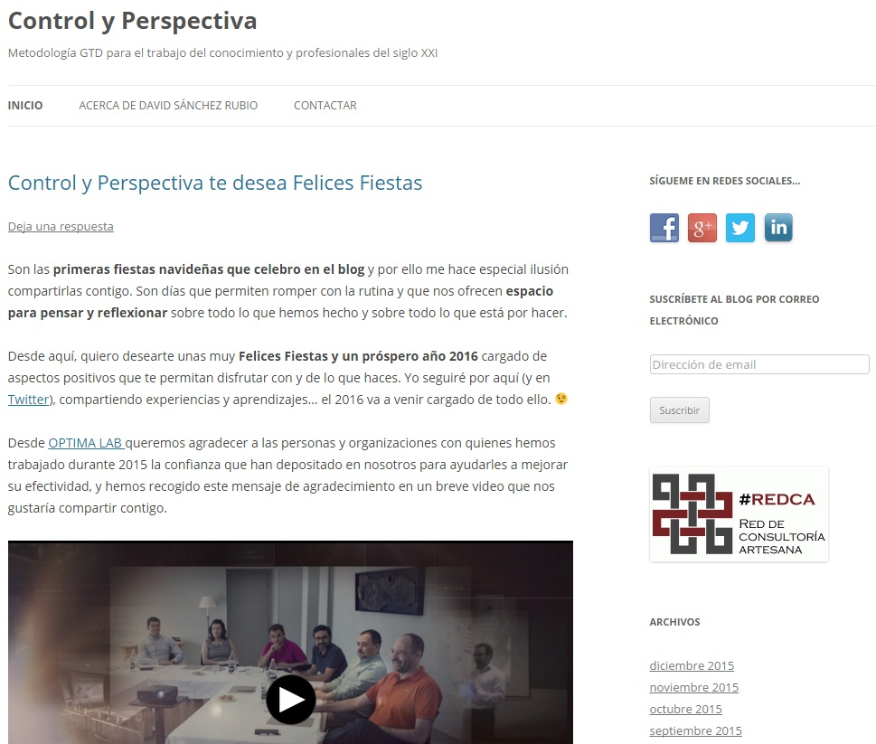 Control y Perspectiva David Sanchez