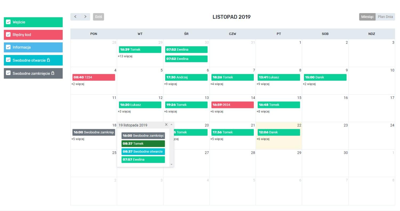 Kalendarz Booking Lock