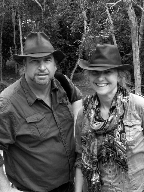 J&P at Calakmul biosphere, Mexico