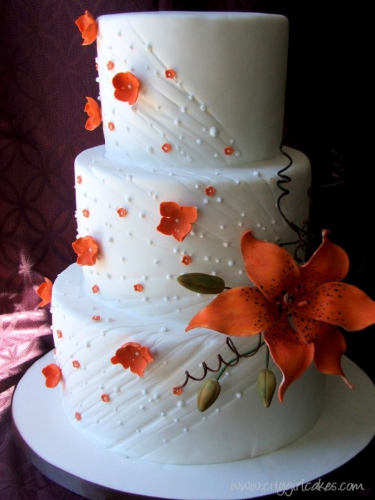 tiger lily cake