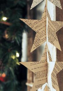 Kerstster van papier