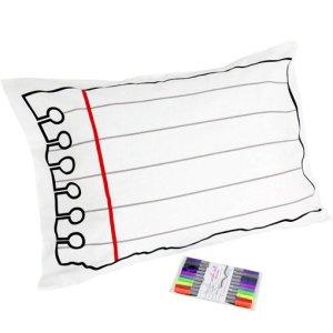 Doodle stitch pillowcase