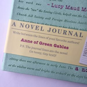 A novel journal close-up cover