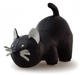 Zwarte kat boekensteun van Zuny