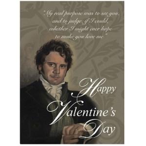 Valentine's Day postcard Mr Darcy