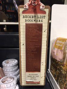 Bucket list bookmark