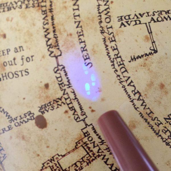 Onzichtbare inkt lezen op Marauder's map