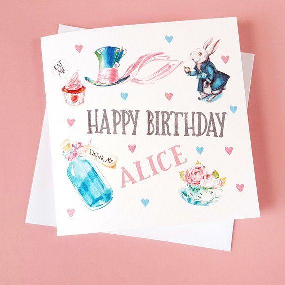 Birthday Card personalized  wonderland