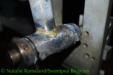 first joint brazed - seat tube to bottom bracket