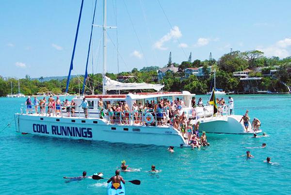 Dunn's River Falls by Catamaran Party Cruise Grand Palladium
