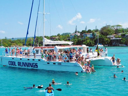 Dunn's River Falls by Catamaran Party Cruise Grand Palladium | Book Jamaica Excursions | bookjamaicaexcursions.com | Karandas Tours