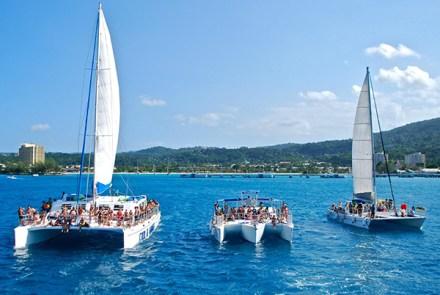 Dunn's River Falls by Catamaran Party Cruise   Book Jamaica Excursions   bookjamaicaexcursions.com   Karandas Tours