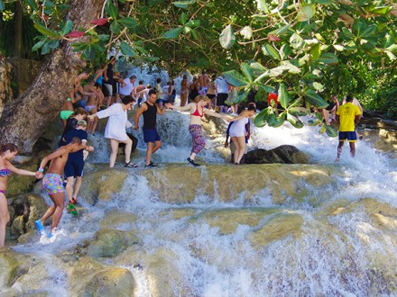 Dunn's River Falls from Negril | Book Jamaica Excursions | bookjamaicaexcursions.com | Karandas Tours