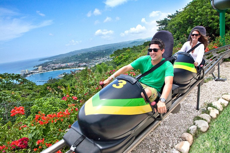 Dunn's River Falls, Sky Explorer, Bobsled Ride & River Tubing Adventure