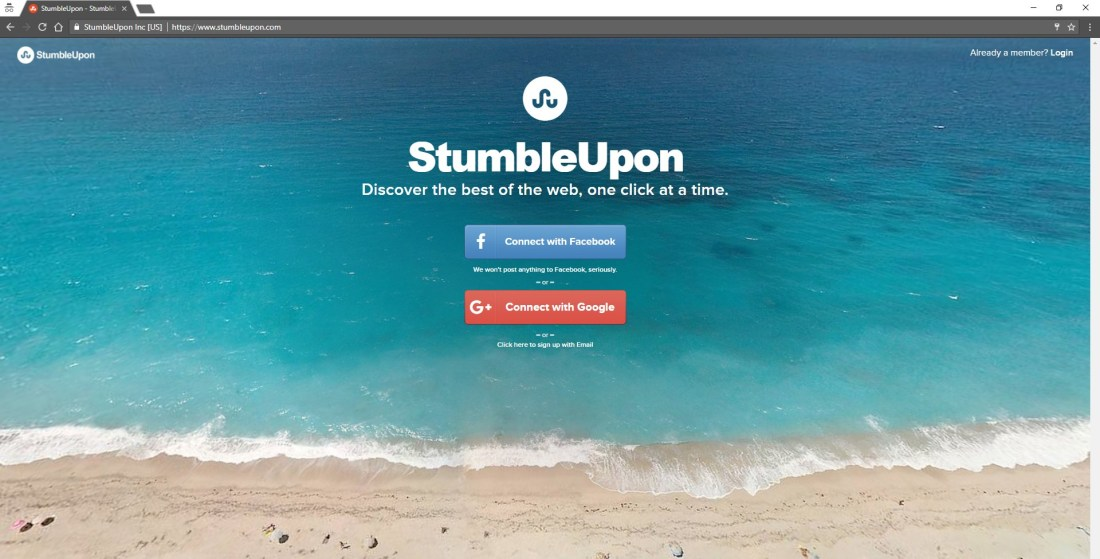 bye-bye, StumbleUpon
