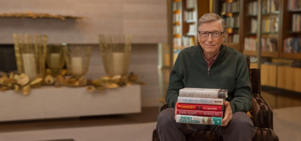 Reading habits of Bill Gates